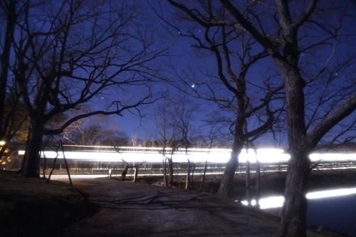 大沼公園と列車